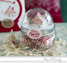 Sweet Holiday Candy Jar by Betsy Veldman for Papertrey Ink (October 2015)