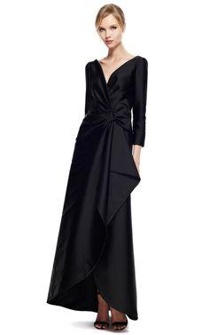 Alberta Ferretti Duchess Satin Gown by Alberta Ferretti for Preorder on Moda Operandi