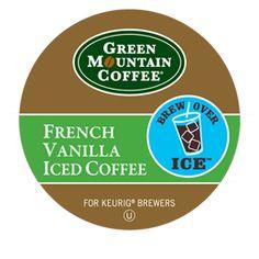 French Vanilla Iced Coffee  Awesome with sugar free caramel macchiato Coffee-mate creamer!
