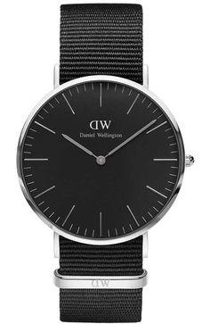 Daniel Wellington Classic Black Cornwall 36mm
