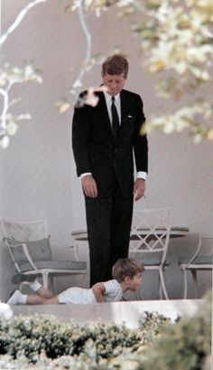 President John F. Kennedy & John jr. by janice