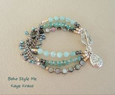 Boho Layered Bracelet Sundance Style Rhythm & Blues by BohoStyleMe