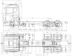 Semi Truck Dimension Drawing, Model a Truck Cab Dimensions Volvo Trucks, Rc Trucks, Custom Trucks, Cool Trucks, Wooden Toy Trucks, Wooden Toys, Daimler Ag, Truck Engine, Plan Drawing