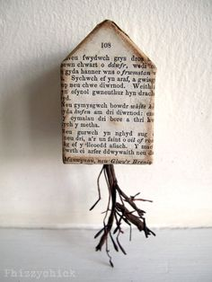 Put Down Roots ~Phizzychick Crooked House, Art Houses, Triangle Square, Artist Card, Found Object Art, Unusual Homes, Alphabet Art, Small Words, Artist Trading Cards
