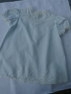 California Stitching: Embroidered Blue Baby Dress I