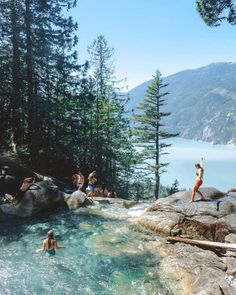 This Stunning Waterfall And Swimming Hole In BC Is The Ultimate Summer Hangout S. - This Stunning Waterfall And Swimming Hole In BC Is The Ultimate Summer Hangout S. This Stunning Waterfall And Swimming Hole In BC Is The Ultimate Su. Bali, Les Cascades, North Cascades, Swimming Holes, Travel Aesthetic, Adventure Aesthetic, Summer Aesthetic, Travel Goals, Travel Tips