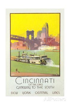 Cincinnati Travel Poster Posters at AllPosters.com