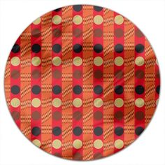 Uneekee Outback Traffic Light Round Tablecloth (Large), Multi (Polyester, Geometric)
