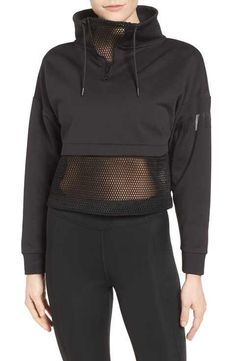 mesh panel funnel sweatshirt by IVY PARK. A boxy pullover is modernized by open hexagonal mesh and an adjustable funnel neckline. Womens Workout Outfits, Sporty Outfits, Fashion Outfits, Sport Fashion, Fitness Fashion, Estilo Fitness, Ivy Park, Moda Fitness, Mesh Panel