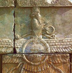 Ahura Mazda, supreme god in ancient Iranian religion, especially in the religious system of the Iranian prophet Zoroaster (7th century–6th century bc) #Persia #Mythology #Ormazd