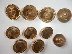 10 Authentic Chanel Buttons  ...Sold for $210