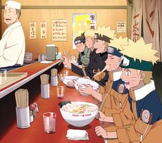 Wow all those years of treating Naruto out for ramen and now he's all grown up to treat Iruka-Sensei