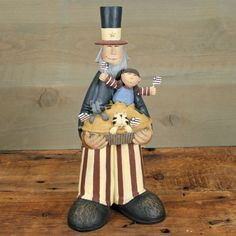 Uncle Sam Celebrates Figurine by Williraye Studio