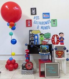 A imagem pode conter: interiores Avengers, Lego, Bernardo, Mini, Party, Book, Spider Man Birthday, Spider Man Party, Mickey Mouse Birthday
