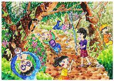 관련 이미지 Painting For Kids, Art For Kids, Crayon Drawings, Art Challenge, Art Education, Art Lessons, Art Projects, Auction, Fine Art