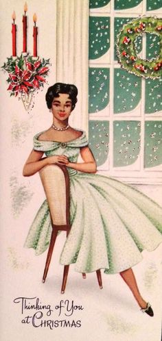 Thinking of you, while looking glamorous. | 17 Beautifully Festive African-American Christmas Cards From The 1950's And '60s