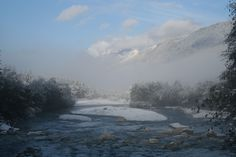 First snow over the Giffre