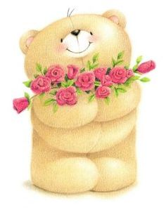 Teddy bear with roses. Tatty Teddy, Cute Images, Cute Pictures, Teddy Bear Pictures, Happy Birthday, Friends Wallpaper, Love Bear, Cute Teddy Bears, Kirigami