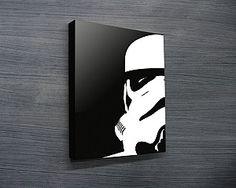 Star Wars pop art canvas print, stormtrooper art, cool gift ideas for guys http://www.bluehorizonprints.com.au/canvas-art/star-wars-art/