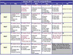 Faith Fitness and Nutrition- January challenge calendar