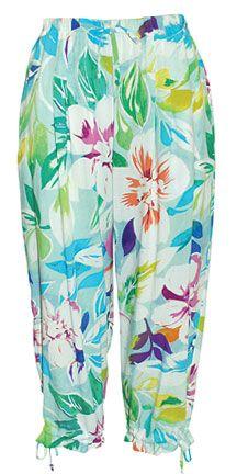 "Women's Beach Pants in ""Crystal"" by Jams World (Pam's shirt print)"