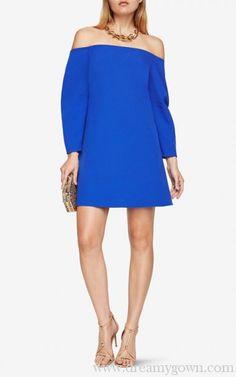 bd0e7f0ce03f0b BCBG Royal Blue Yesenia Off-The-Shoulder Short Cocktail Dress 2017 Royal  Blue Dresses