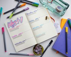 How to start a bullet journal - Daily Spreads