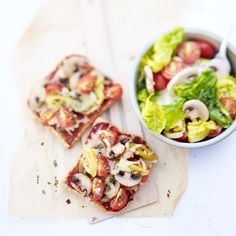 Veggie-Pizzatoast Rezepte | Weight Watchers