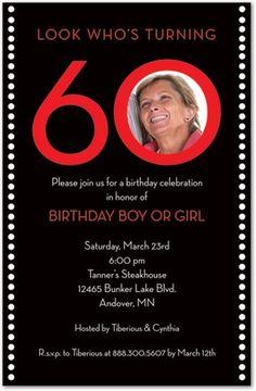 60th Birthday Invitation She S Crafty She S Just My Type