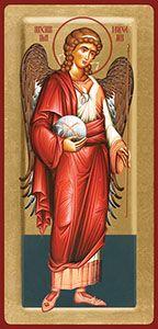 3/05 - Archangel Michael, icon Jan Van Eyck, Angel Statues, Archangel Michael, Orthodox Icons, Angel Art, Rembrandt, Ikon, Netflix, Baseball Cards
