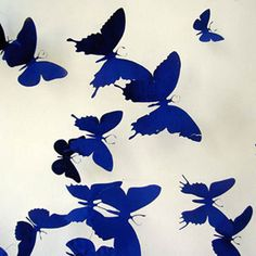 Butterfly wall decor, interior design