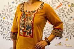 Be it for office wear, casual outings or college dress code, kurti's have become an integral part of every Indian Chudi Neck Designs, Salwar Neck Designs, Churidar Designs, Kurta Neck Design, Dress Neck Designs, Kurta Designs Women, Blouse Designs, Salwar Pattern, Kurta Patterns