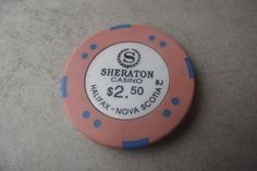 Sheraton Casino Chip Halifax Nova Scotia Canada Collectible