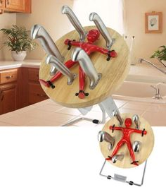 knife thrower knife block