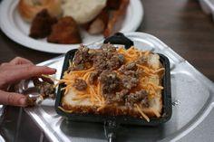 Pie iron camping recipes-breakfast sandwich(sausage&cheese); Dessert(strawberries& Nutella);cherry pie; calzones;...