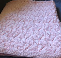 Hand Knitted Baby Blanket Pink by NanaJCrafts on Etsy, $35.00
