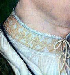 1522 Hans Holbein the Elder Portrait of a Member of the Weiss Family of Augsburg DETAIL (via Medieval Arts & Crafts: An unexpected museum visit in Frankfurt) Costume Renaissance, Medieval Costume, Renaissance Fashion, Renaissance Clothing, Medieval Art, Medieval Gown, Elizabethan Clothing, Historical Costume, Historical Clothing