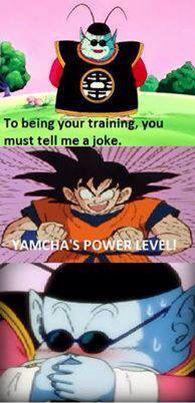 Yamcha's power level is so low that it's comedic Dbz Memes, Cartoon Memes, Funny Memes, Dragon Z, Funny Dragon, Dragon Ball Image, Goku Vs, Chucky, Manga Anime