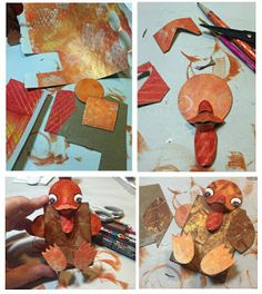 GREAT #thanksgiving project for your stack of #gelliprinted papers!! Step by Step instructions on the blog - fun with kids too!  PaperOcotilloStudio http://bit.ly/1HH0nIF PaperOcotilloStudio