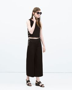 TROUSERS WITH SIDE SNAPS-Trousers-WOMAN | ZARA United States