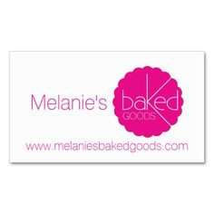 Simple professional pink bakers business cards business card template by Mylittleeden