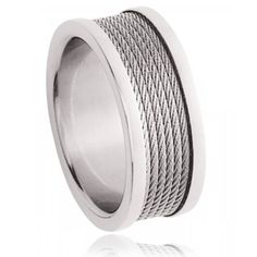 Bague acier cable Electica - Murat Paris Life Symbol, Cable, Rings For Men, Stainless Steel, Jewels, Paris, Jewelry Branding, Male Jewelry, Man Women