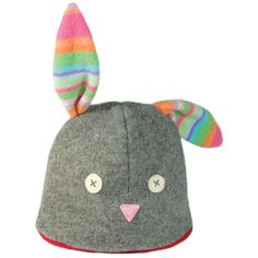 Cate and Levi Handmade Bunny Winter Hat (Premium Reclaimed Wool and Eco-Friendly Fleece)