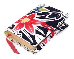 Book Cover RED HIBISCUS in Vintage Kimono by WhimsyWooDesigns, £16.00