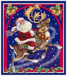 Santa and reindeer...