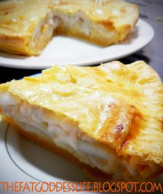 Buko Pie Recipe Buko pie is a traditional Filipino pastry style, young-coconut (malauhog) -filled pie. It has proven to be a popular dish for Filipinos. It is almost like a coconut cream pie, only it is made with just young coconuts (buko in Tagalog) and has no cream. Recipe: Crust: 2 cups all purpose flour1 tsp. salt 2/3 cup shortening 1 piece egg yolk 1 tsp. vinegar 1/4 cup ice water Filling: 4 cups coconut meat 1 cup coconut water 1 300 ml. can Sweetened Condensed Milk 2/3 cup cornstarch ...