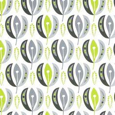 Astrid Lime fabric - Kinnamark. Designer: Ann Hjers