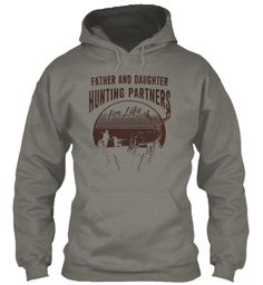Father And Daughter Hunting Partners Charcoal Sweatshirt Front