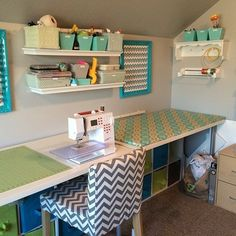44 Perfect Sewing Room Ideas for Small Spaces Sewing Room Ideas for Small Spaces 61 262 Best Sewing Spaces Images Sewing Room Design, Craft Room Design, Sewing Spaces, My Sewing Room, Sewing Studio, Sewing Office Room, Small Sewing Rooms, Sewing Nook, Sewing Room Decor
