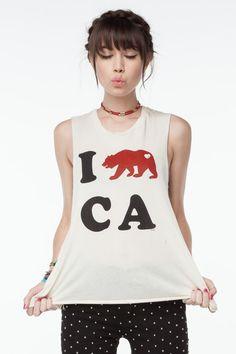 I Heart CA Tank -Brandy Melville USA